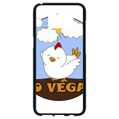 Go Vegan   Cute Chick  Samsung Galaxy S8 Black Seamless Case by Valentinaart
