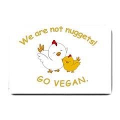 Go Vegan   Cute Chick  Small Doormat  by Valentinaart