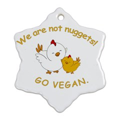 Go Vegan   Cute Chick  Ornament (snowflake) by Valentinaart