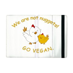 Go Vegan   Cute Chick  Apple Ipad Mini Flip Case by Valentinaart