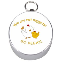 Go Vegan   Cute Chick  Silver Compasses by Valentinaart