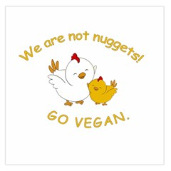 Go Vegan   Cute Chick  Large Satin Scarf (square) by Valentinaart