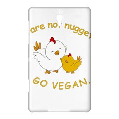 Go Vegan   Cute Chick  Samsung Galaxy Tab S (8 4 ) Hardshell Case  by Valentinaart