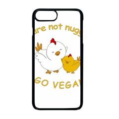 Go Vegan   Cute Chick  Apple Iphone 8 Plus Seamless Case (black) by Valentinaart