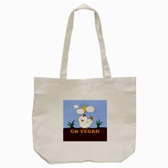 Go Vegan   Cute Chick  Tote Bag (cream) by Valentinaart