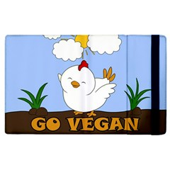 Go Vegan   Cute Chick  Apple Ipad 3/4 Flip Case by Valentinaart