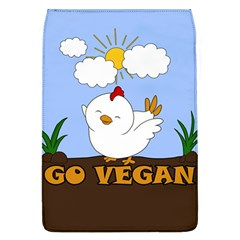 Go Vegan   Cute Chick  Flap Covers (l)  by Valentinaart