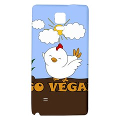 Go Vegan   Cute Chick  Galaxy Note 4 Back Case by Valentinaart