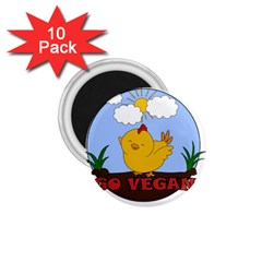 Go Vegan   Cute Chick  1 75  Magnets (10 Pack)  by Valentinaart