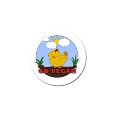 Go Vegan   Cute Chick  Golf Ball Marker (4 Pack) by Valentinaart