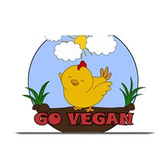 Go Vegan   Cute Chick  Plate Mats by Valentinaart
