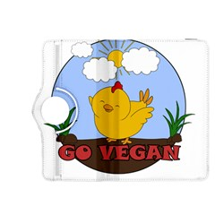 Go Vegan   Cute Chick  Kindle Fire Hdx 8 9  Flip 360 Case by Valentinaart