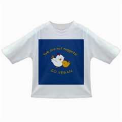 Go Vegan   Cute Chick  Infant/toddler T Shirts by Valentinaart