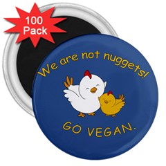 Go Vegan   Cute Chick  3  Magnets (100 Pack) by Valentinaart