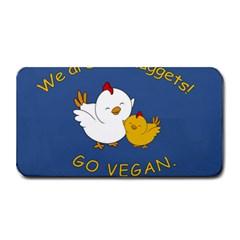 Go Vegan   Cute Chick  Medium Bar Mats by Valentinaart