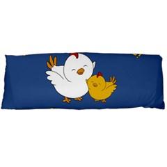 Go Vegan   Cute Chick  Body Pillow Case (dakimakura) by Valentinaart