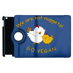 Go Vegan   Cute Chick  Apple Ipad 3/4 Flip 360 Case by Valentinaart