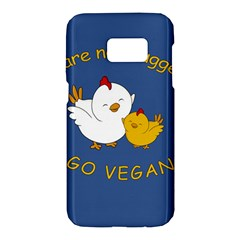 Go Vegan   Cute Chick  Samsung Galaxy S7 Hardshell Case  by Valentinaart
