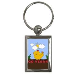 Go Vegan   Cute Chick  Key Chains (rectangle)  by Valentinaart