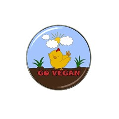 Go Vegan   Cute Chick  Hat Clip Ball Marker (10 Pack) by Valentinaart