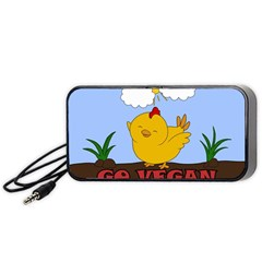 Go Vegan   Cute Chick  Portable Speaker by Valentinaart