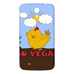 Go Vegan   Cute Chick  Samsung Galaxy Mega I9200 Hardshell Back Case by Valentinaart