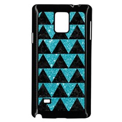 Triangle2 Black Marble & Turquoise Glittertriangle2 Black Marble & Turquoise Glitter Samsung Galaxy Note 4 Case (black) by trendistuff