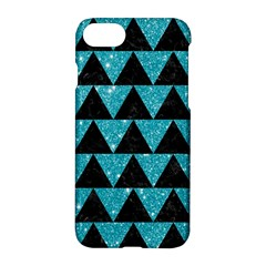 Triangle2 Black Marble & Turquoise Glittertriangle2 Black Marble & Turquoise Glitter Apple Iphone 8 Hardshell Case by trendistuff