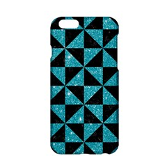 Triangle1 Black Marble & Turquoise Glitter Apple Iphone 6/6s Hardshell Case by trendistuff