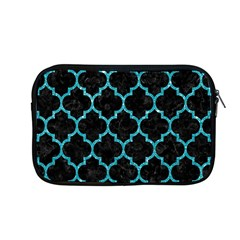 Tile1 Black Marble & Turquoise Glitter (r) Apple Macbook Pro 13  Zipper Case by trendistuff