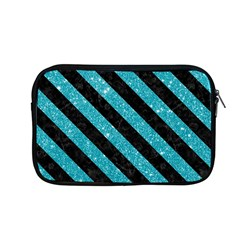 Stripes3 Black Marble & Turquoise Glitter Apple Macbook Pro 13  Zipper Case by trendistuff