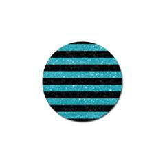 Stripes2black Marble & Turquoise Glitter Golf Ball Marker (10 Pack) by trendistuff