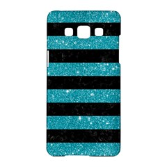 Stripes2black Marble & Turquoise Glitter Samsung Galaxy A5 Hardshell Case  by trendistuff