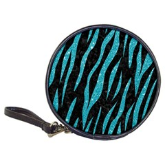 Skin3 Black Marble & Turquoise Glitter (r) Classic 20 Cd Wallets by trendistuff