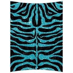 Skin2 Black Marble & Turquoise Glitter (r) Back Support Cushion by trendistuff