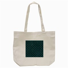 Scales3 Black Marble & Turquoise Glitter (r) Tote Bag (cream) by trendistuff