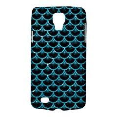 Scales3 Black Marble & Turquoise Glitter (r) Galaxy S4 Active by trendistuff