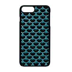 Scales3 Black Marble & Turquoise Glitter (r) Apple Iphone 7 Plus Seamless Case (black) by trendistuff