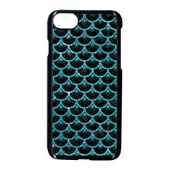 Scales3 Black Marble & Turquoise Glitter (r) Apple Iphone 7 Seamless Case (black) by trendistuff