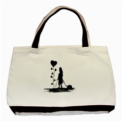 Sowing Love Concept Illustration Small Basic Tote Bag (two Sides) by dflcprints