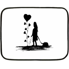 Sowing Love Concept Illustration Small Fleece Blanket (mini) by dflcprints