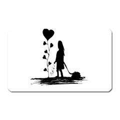 Sowing Love Concept Illustration Small Magnet (rectangular) by dflcprints