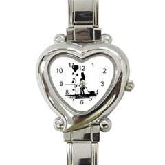 Sowing Love Concept Illustration Small Heart Italian Charm Watch by dflcprints