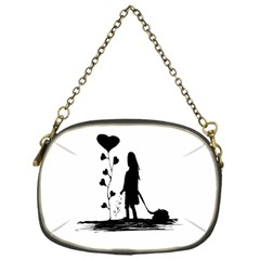 Sowing Love Concept Illustration Small Chain Purses (one Side)  by dflcprints