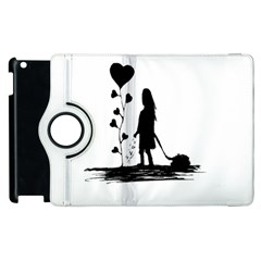 Sowing Love Concept Illustration Small Apple Ipad 2 Flip 360 Case by dflcprints