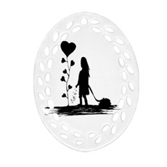 Sowing Love Concept Illustration Small Ornament (oval Filigree) by dflcprints