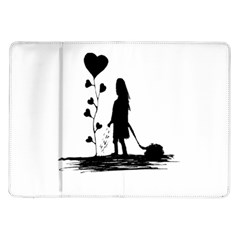 Sowing Love Concept Illustration Small Samsung Galaxy Tab 10 1  P7500 Flip Case by dflcprints