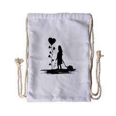 Sowing Love Concept Illustration Small Drawstring Bag (small) by dflcprints