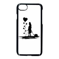 Sowing Love Concept Illustration Small Apple Iphone 7 Seamless Case (black) by dflcprints