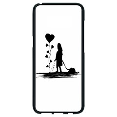Sowing Love Concept Illustration Small Samsung Galaxy S8 Black Seamless Case by dflcprints